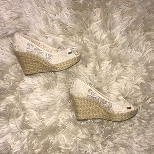 Kelly and Katie Cream Espadrilles